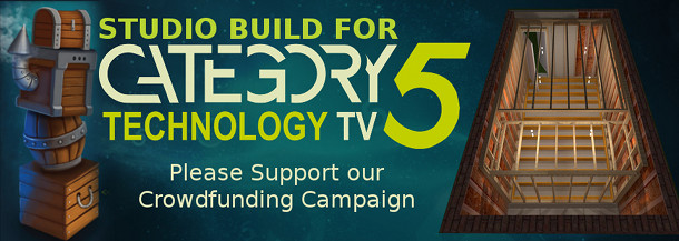 Help Category5 TV raise the needed funds to build Studio C